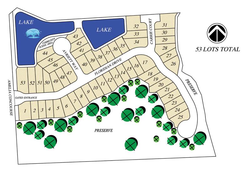 Floridian Enclave Site Plan
